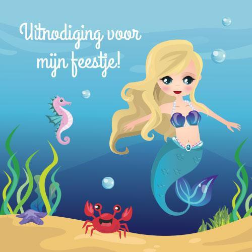 Zeemeerminnen Uitnodigingen
