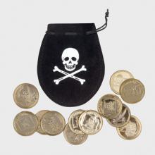 Piraten muntjes in buideltje
