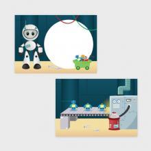 Robots Traktatiekaartje