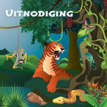 Dieren Jungle uitnodigingen