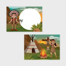 Indianen Traktatiekaartjes