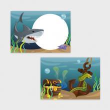 Onderwaterwereld Traktatiekaartje