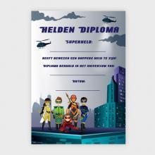 Superhelden Diploma
