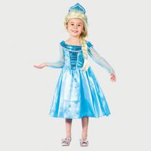 Lichtblauwe prinsessenjurk