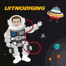 Astronauten Uitnodigingen