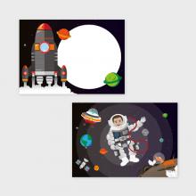 Astronauten Traktatiekaartje