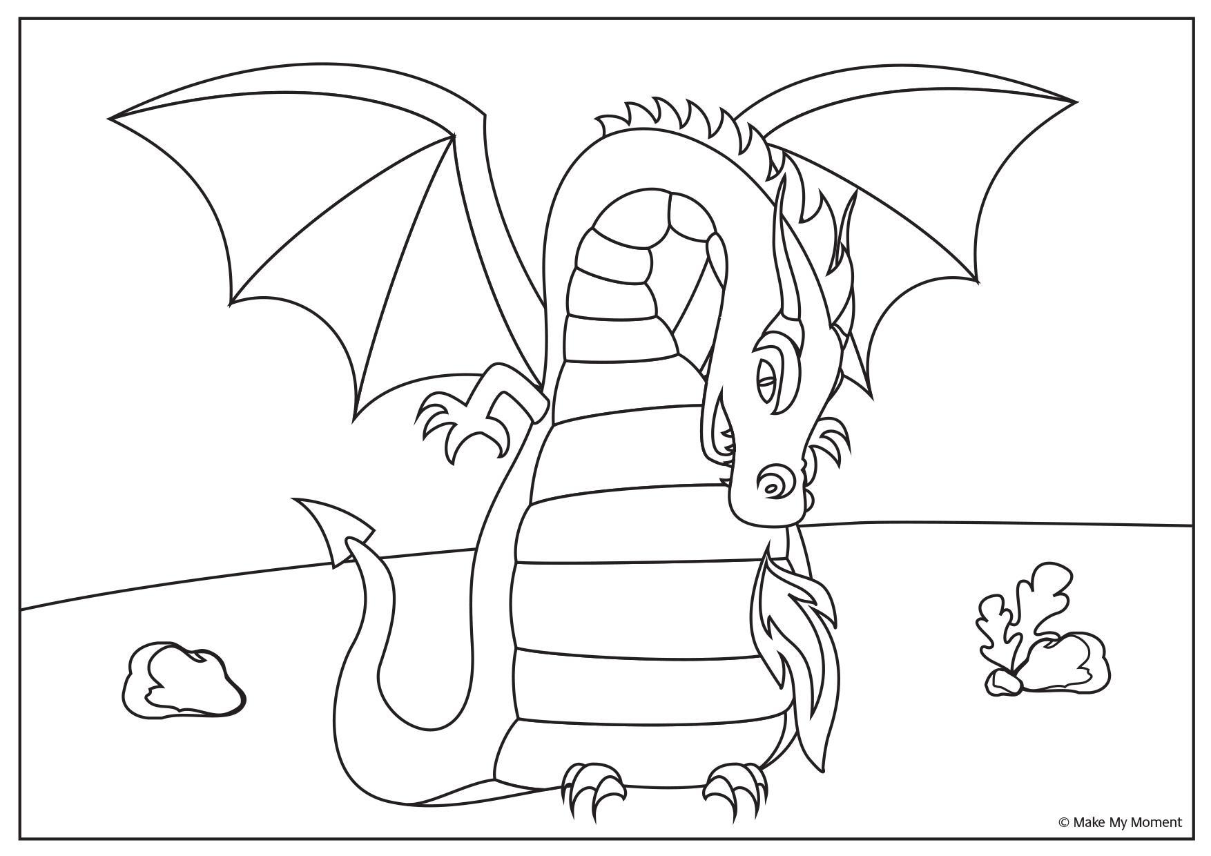 Gratis Kleurplaten Draken.Kleurplaat Voor Kinderfeestje