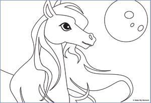 Kleurplaten Prinsessen Met Paard.Kleurplaat Voor Kinderfeestje